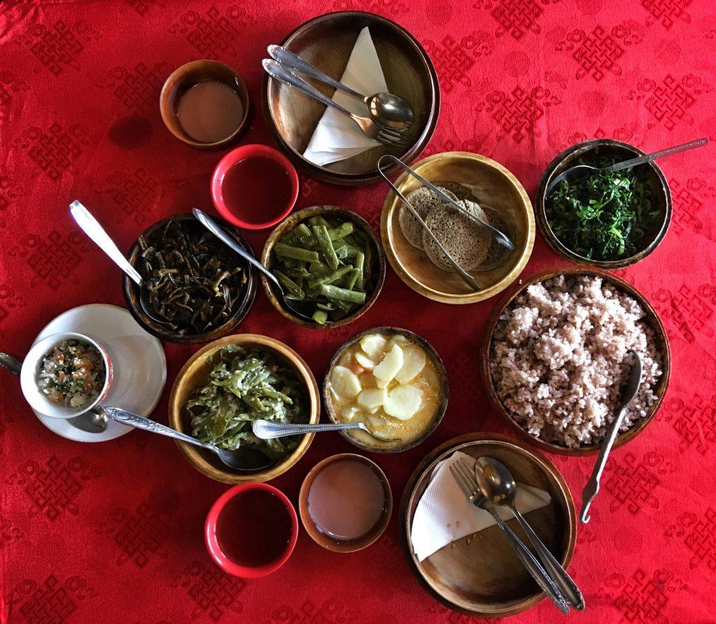 Thimphu - Local Food at Folk Heritage Museum